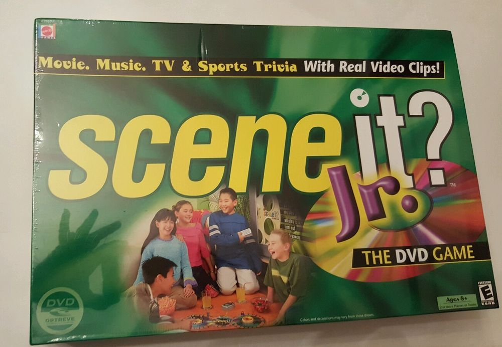 Scene It Jr Dvd Game Mattell Tv And Sports Trivia Ages 8 Usa