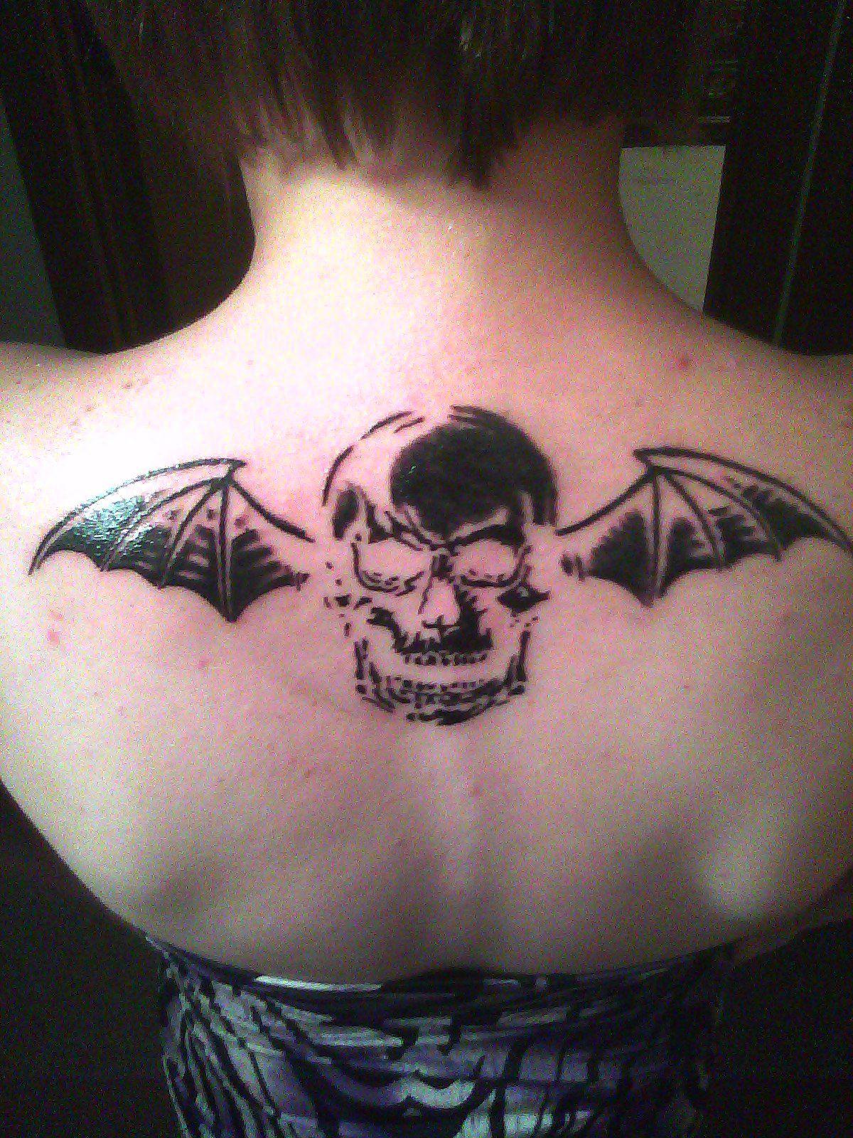 Av av avenged sevenfold tattoo designs - Avenged Sevenfold Death Bat Tattoo Gotta Love It