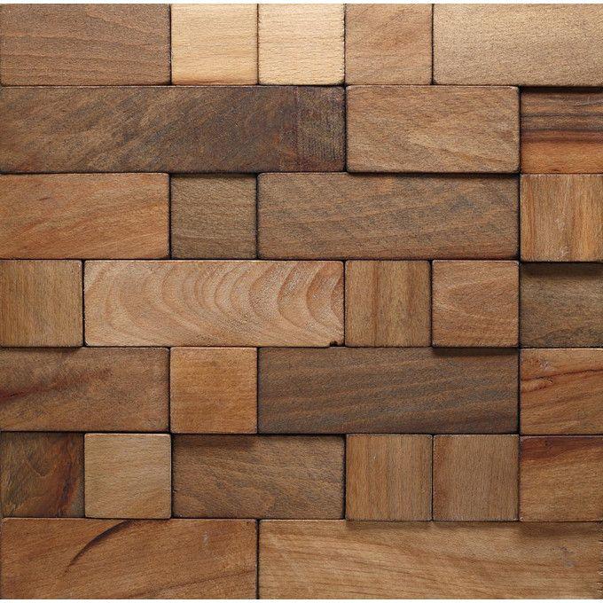 Panel ścienny 345x345cm Cube 2 Wood Collection Stegu ściany