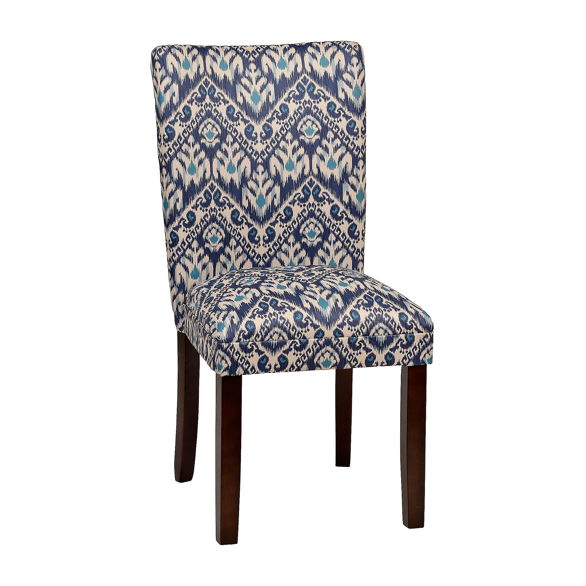 Indigo Ikat Parsons Chair Dinning ChairsDining AreaParsons