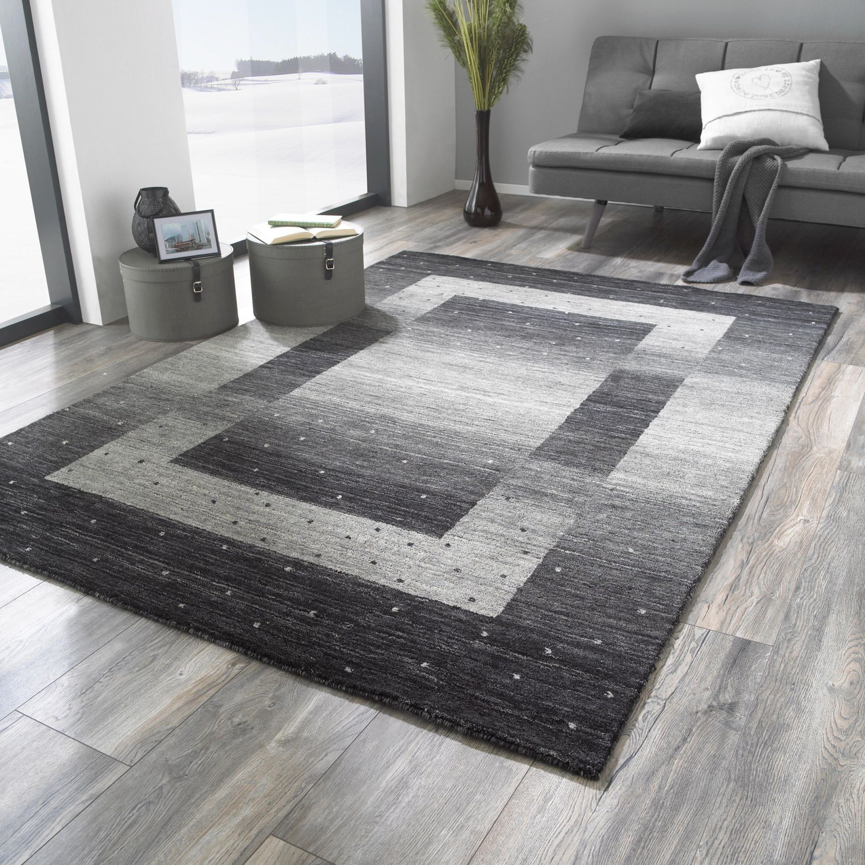Orientteppich In Schwarz 160 230 Cm Contemporary Rug Decor Home Decor