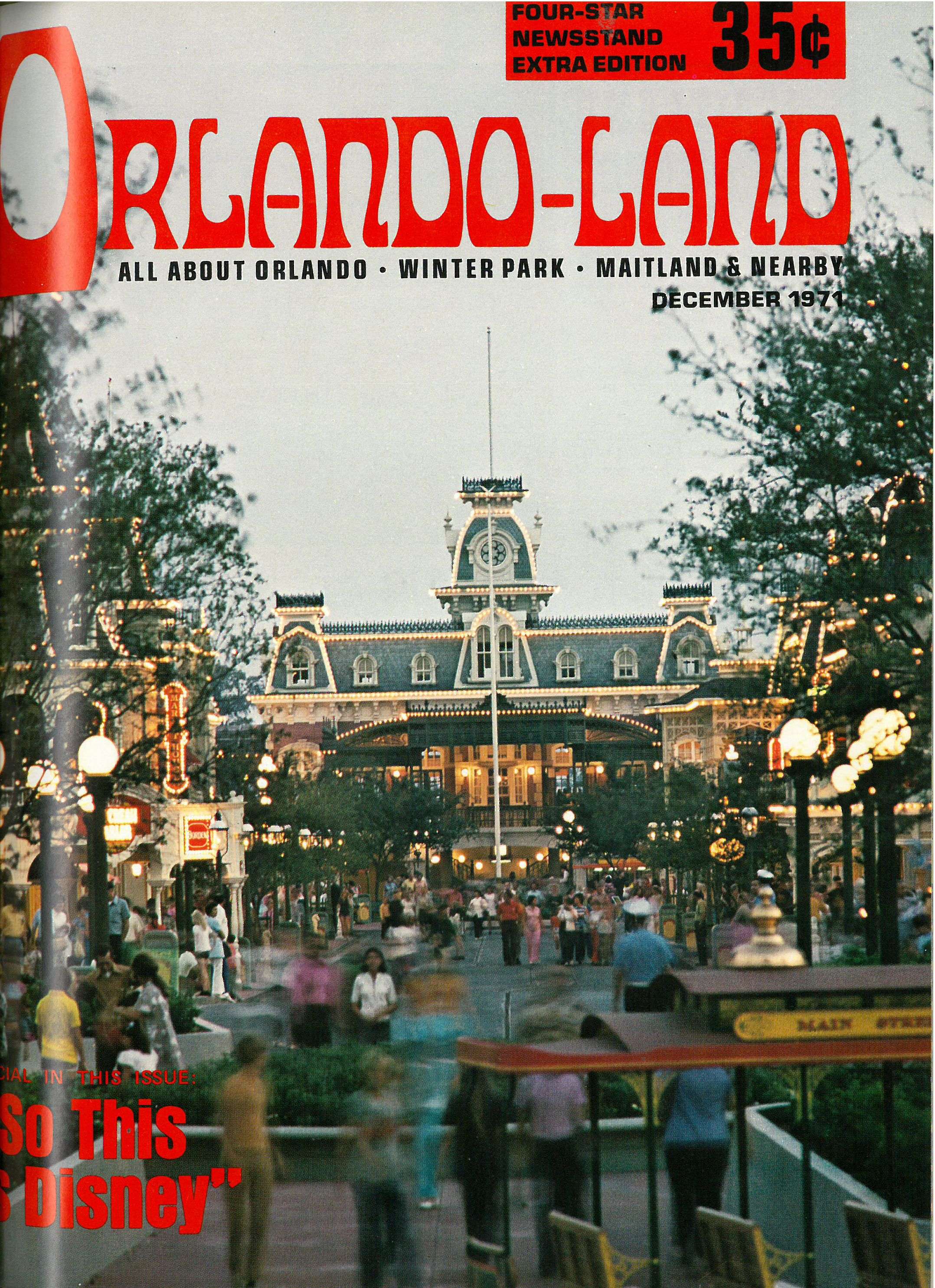 Vintage edition of Orlando magazine from December 1971