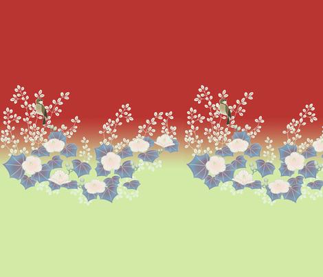 koujaku Kimono Fabric fabric by squigglebunny on Spoonflower - custom fabric