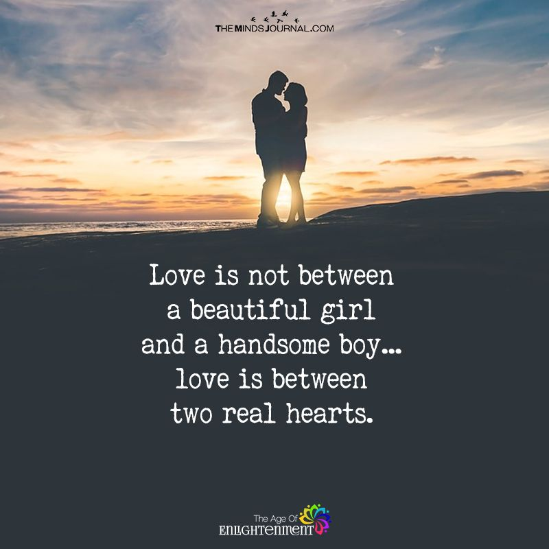 Love Is Not Between A beautiful Girl And A Handsome Boy ...