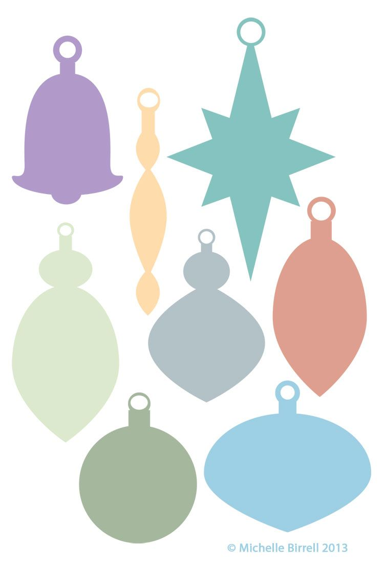 Good Christmas Ornament Shapes Part - 2: Christmas Ornament Shapes - Best Template Collection