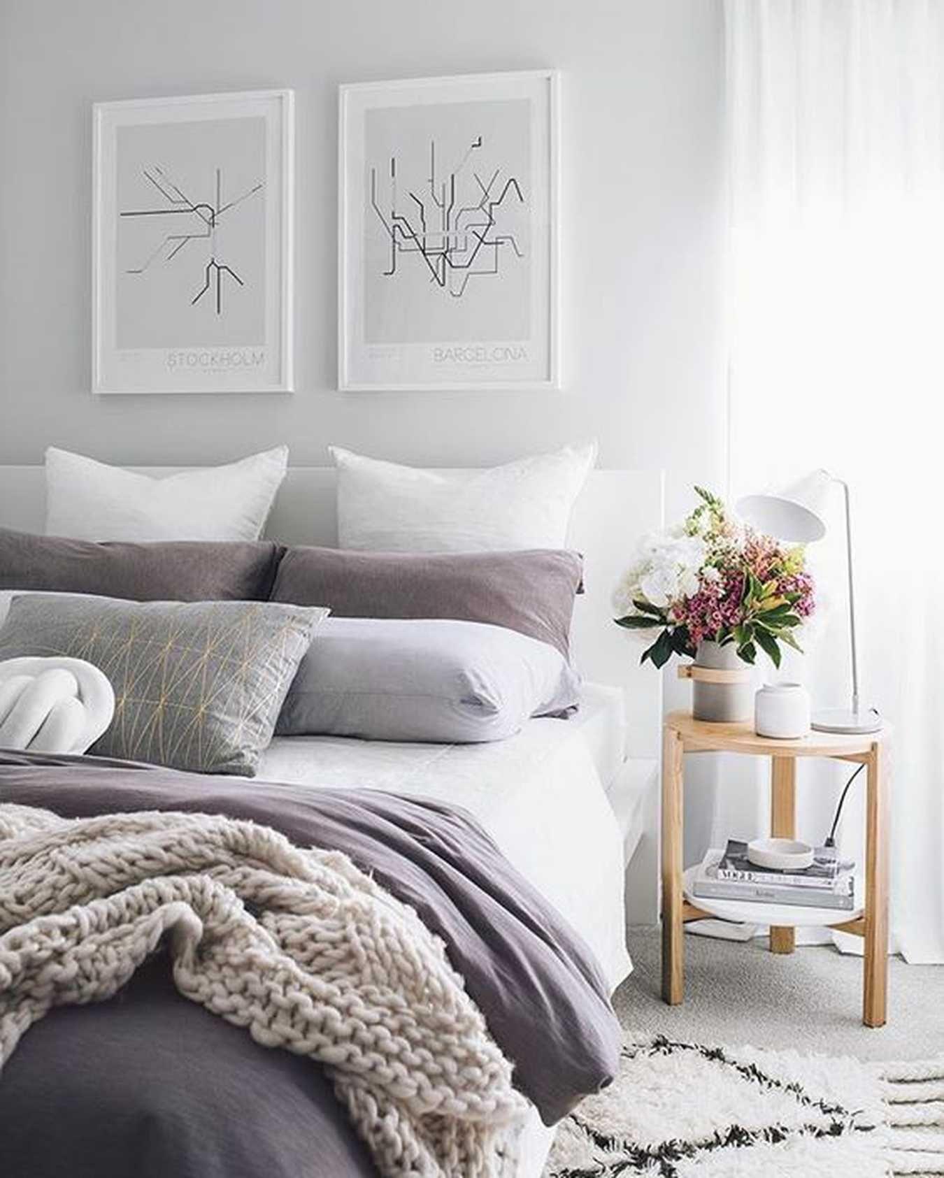 Interior Design Style Quiz Purple bedrooms, White