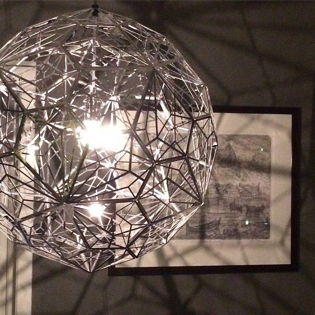 """""""Good night #etchweblamp #tomdixonstudio #tomdixon #nettbutikk #lunehjem #myfavoritelamp#goodnight"""""""
