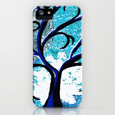 The Silver Moon Tree iPhone & iPod Case by Saundra Myles - $35.00