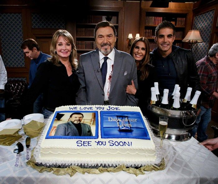 Photos from the on-set celebration of Mascolo's last day ...