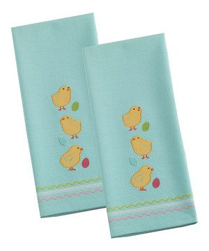 Great Easter Chicks Dish Towel   Set Of Two By Design Home Design Ideas