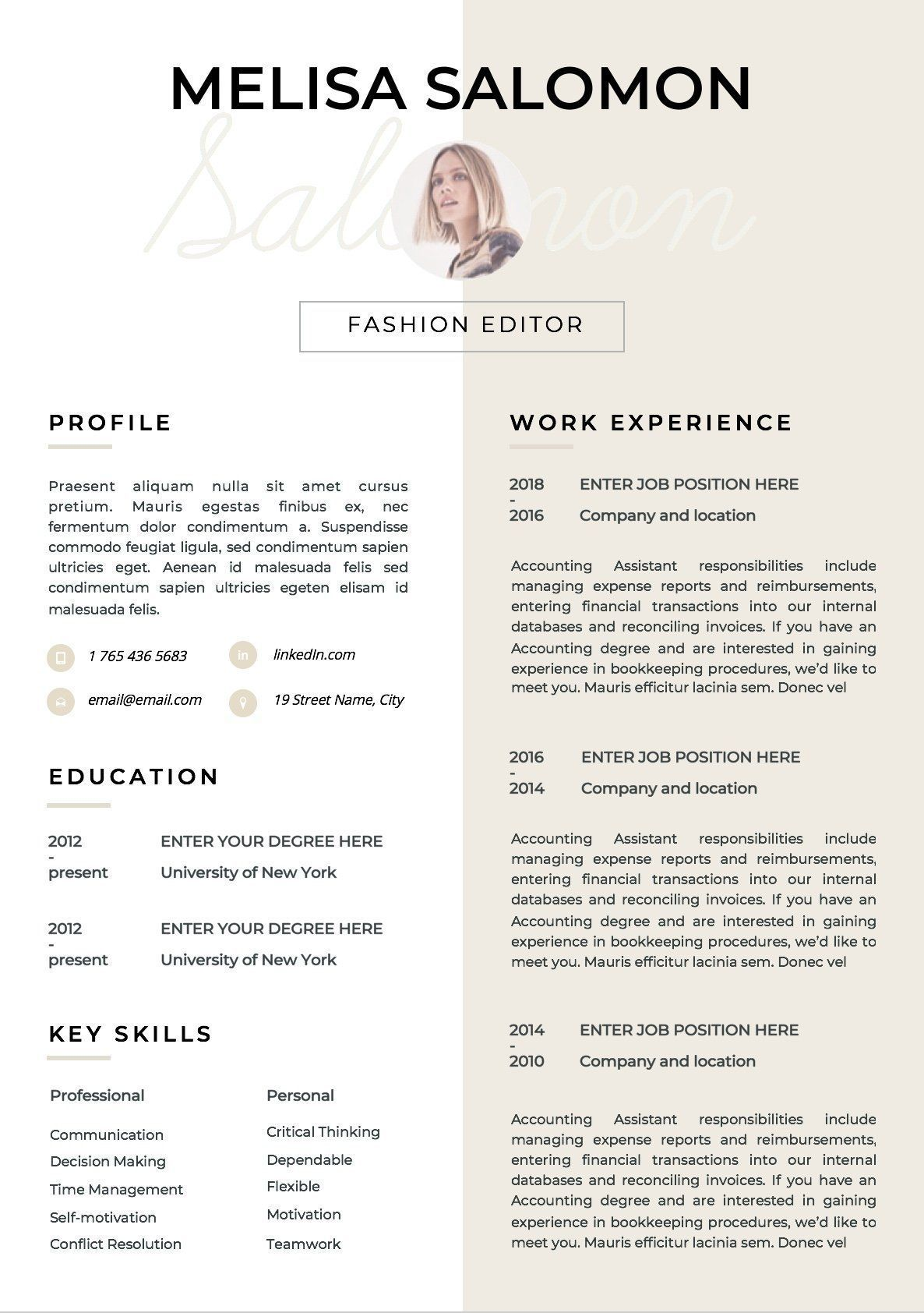 Epingle Sur Resume Tips Skills