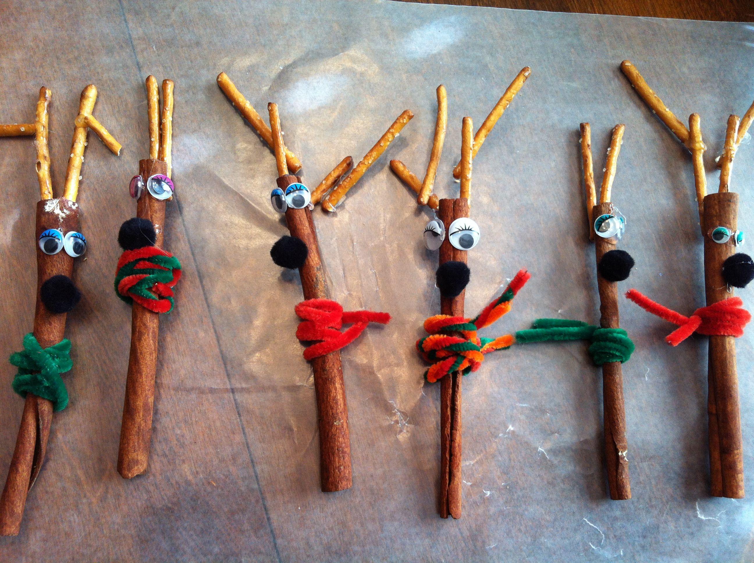Cinnamon Stick Reindeer Cinnamon Stick Reindeer Reindeer Craft