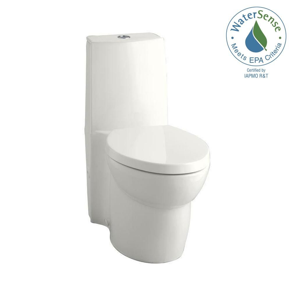 Kohler Saile 1 Piece 0 8 Or 1 6 Gpf Dual Flush Elongated Toilet In