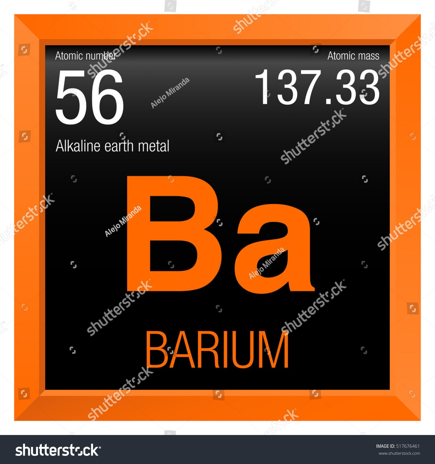 Ba Periodic Table Mass