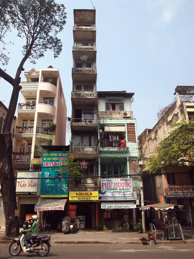 Skinny building in Ho Chi Minh City, Vietnam.