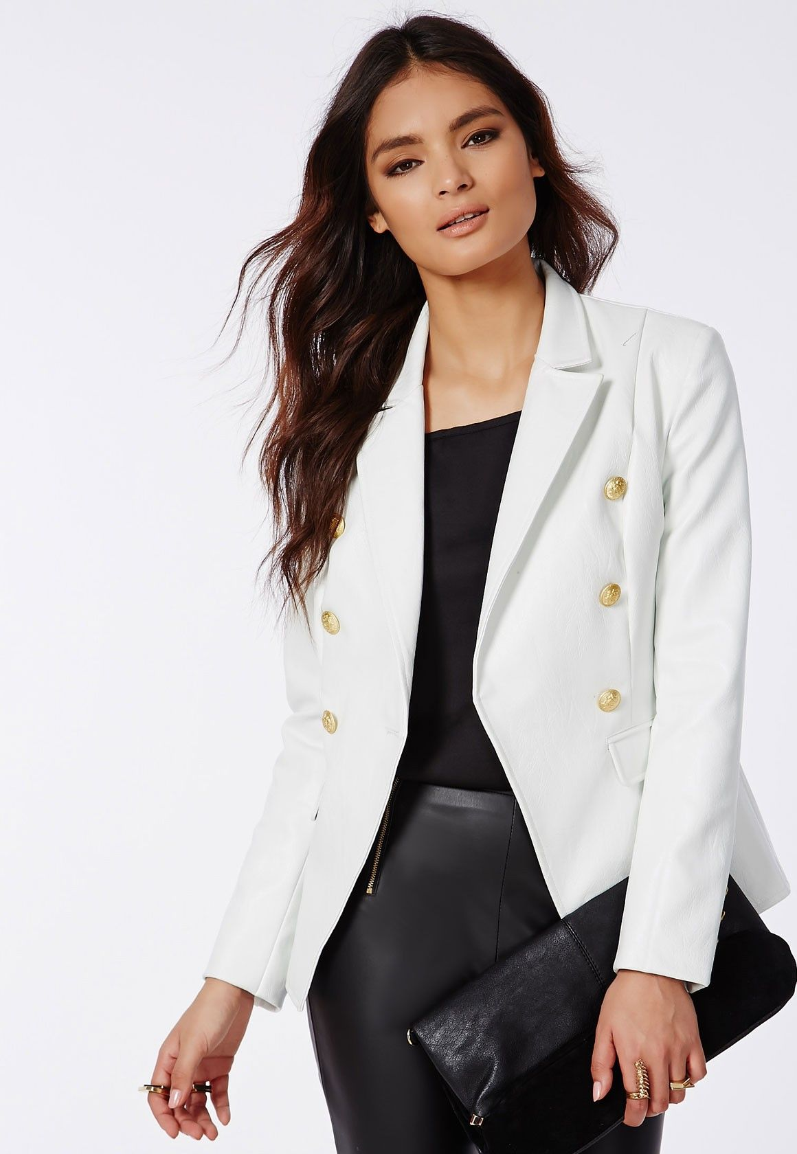Black Faux Leather Blazer - Missguided | Fashion statements ...