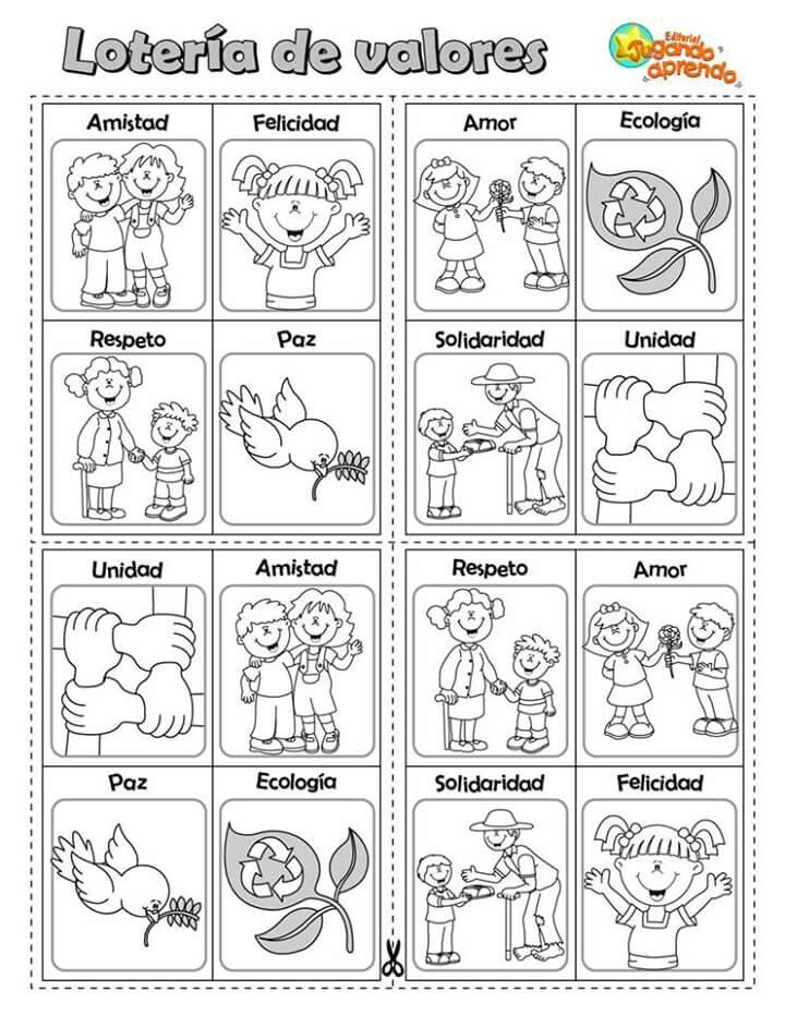 62 Ideas De Valores En 2021 Actividades Para Preescolar Actividades Actividades Escolares