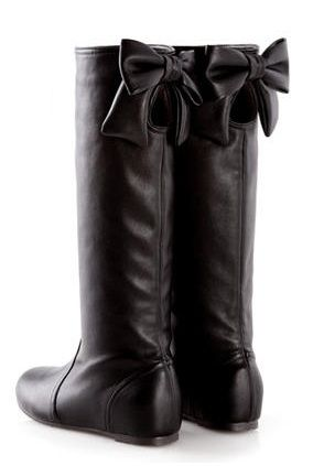 D+AF  Bow-Accent Cutout Tall Boots