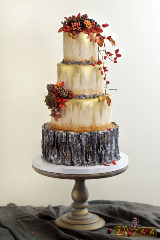 Rustic Autumn Wedding Cake With Images Fall Cakes Fall