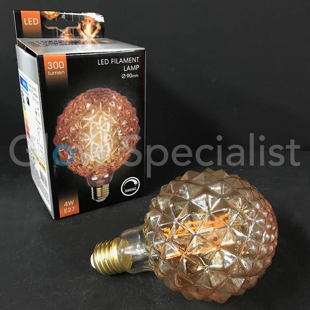 Pineapple Design Led Filament Lamp Voor Maar 9 95 Geef Je Je Eigen Lamp Een Nieuwe Look Ananas Diylamp Led Lampen Hal Lampen