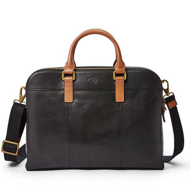 harmonische Farben Luxus kaufen riesiges Inventar Herren Tasche - Mercer Double Zip Workbag | Fossil ...