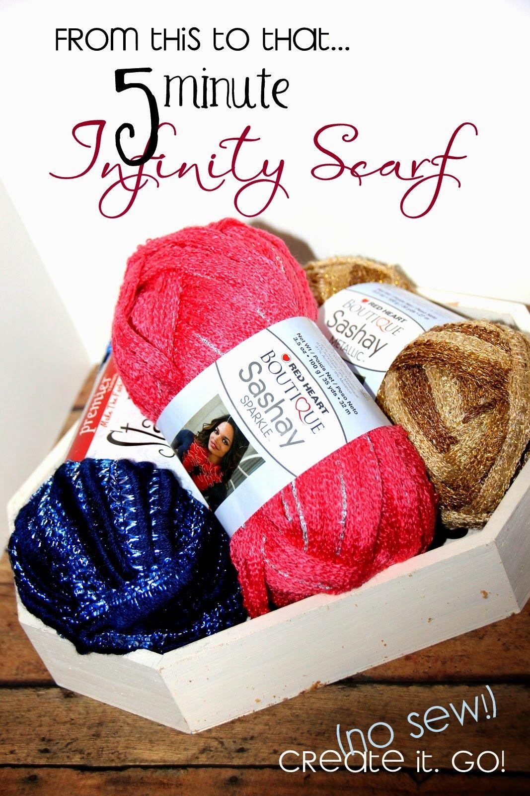 Create it. Go!: DIY Five Minute <$5 Infinity Scarf (No Sew)