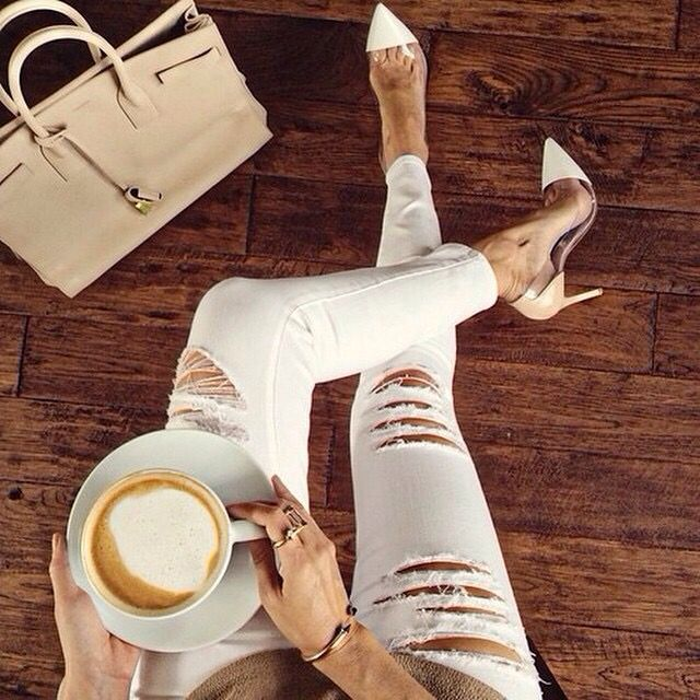 #Coffee is good anytime. #Fashion #OOTD #InstaFashion #Glam #CurrentElliot #Hermes #Igshop #InstDiva ☕️☕️