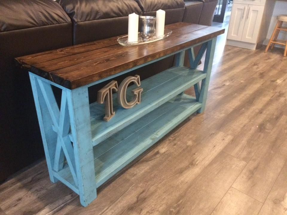 Build Your Own Diy Sofa Table In 2020 Rustic Sofa Tables Rustic Console Tables White Rustic Coffee Table