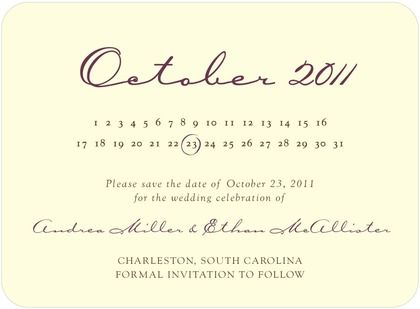 Signature Ecru Save The Date Cards