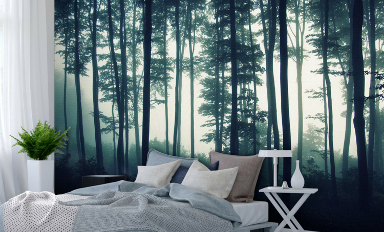 Schlafzimmer Deko Wald