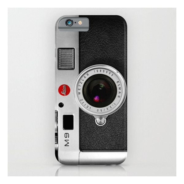 Classic Retro Black Silver Leather Vintage Camera … iPhone 6s Case ($35) ❤ liked on Polyvore featuring accessories, tech accessories, iphone & ipod cases, genuine leather ipad case, ipad cover case, ipad hard shell case, ipad sleeve case and ipad hard case