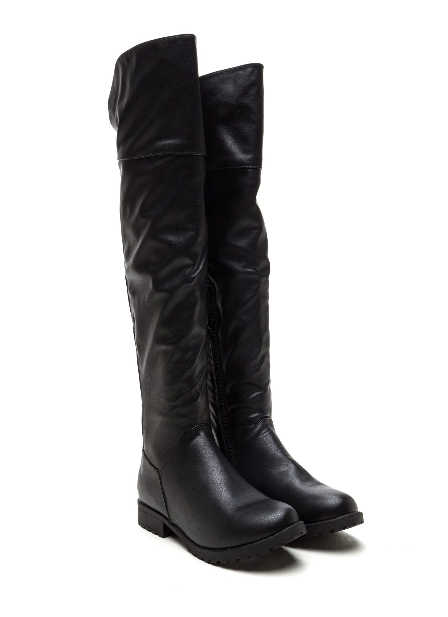 Ground Up Faux Leather Boots GoJane.com