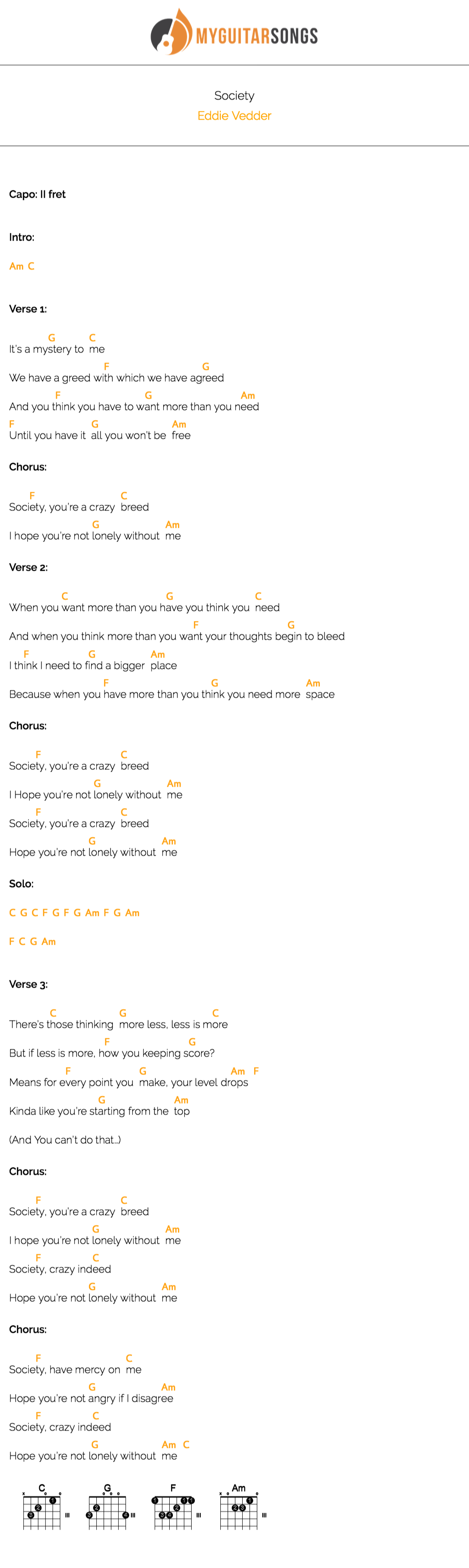 Society by eddie vedder v2 ukulele pinterest eddie vedder start strumming some chords of society by eddie vedder create your own beautiful pdf songbook hexwebz Choice Image