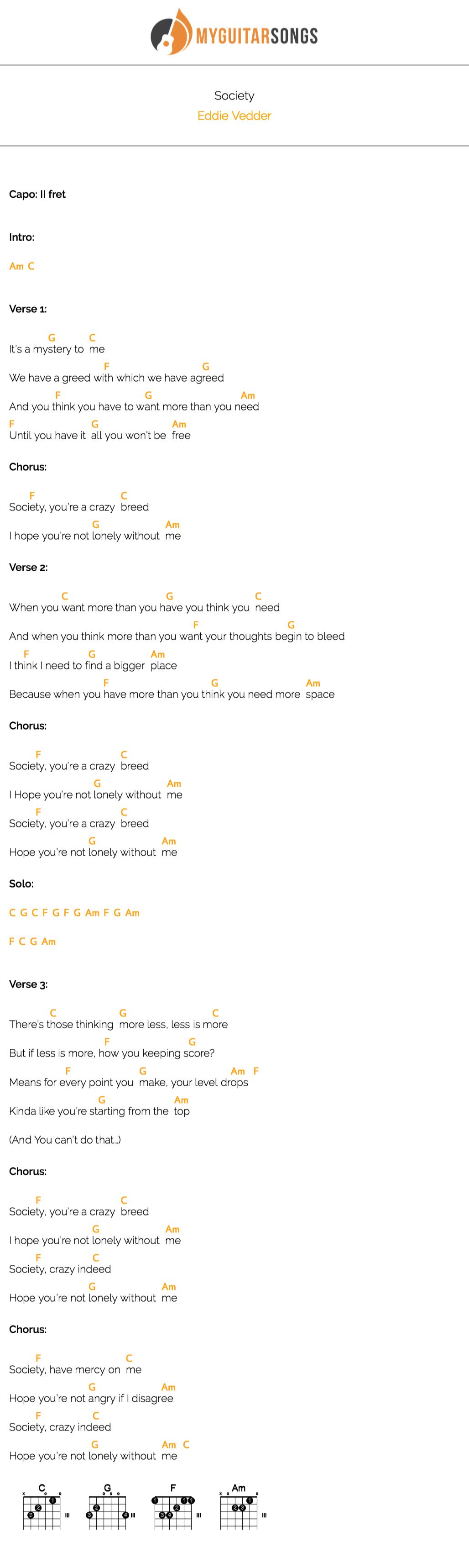 Eddie Vedder Ukulele Songbook Pdf