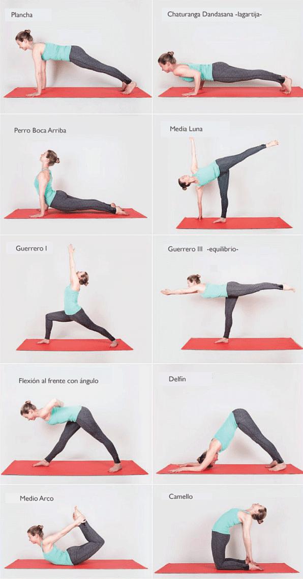 Guia De Posturas De Yoga Para Principiantes 10 Ideas Yoga Asanas Intermediate Yoga Poses Yoga Tutorial