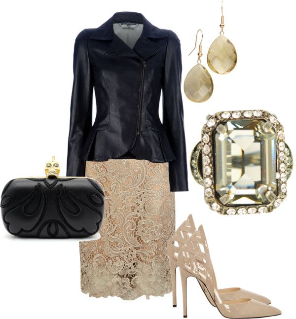 """""""Leather and Lace"""" by christa-tillman on Polyvore"""