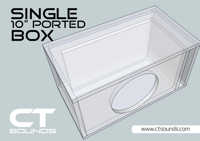 Single 10 Inch Ported Subwoofer Box Design Subwoofer Box Design Subwoofer Box Box Design