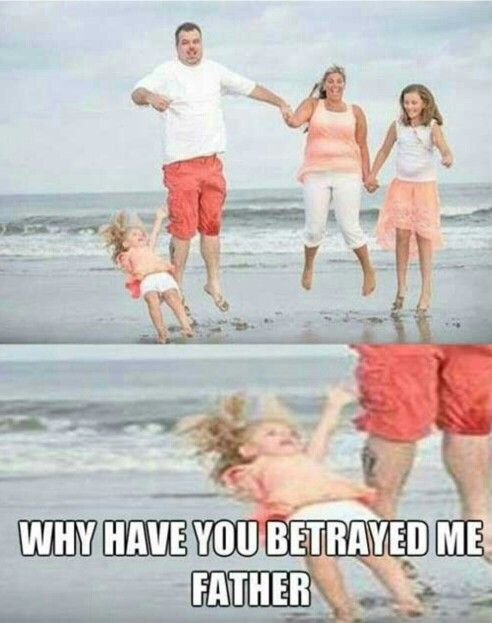 Why you have betrayed me father. Very funny picture. Falling girl