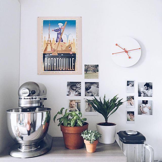 Home • aujourd'hui, j'ai réaménagé ma cuisine pour faire de la place à mon nouveau joujou 😍 #home #homedeco #homedecor…