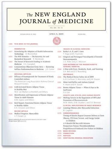 New England Journal Of Medicine Medicine Journal Medical Journals Medicine