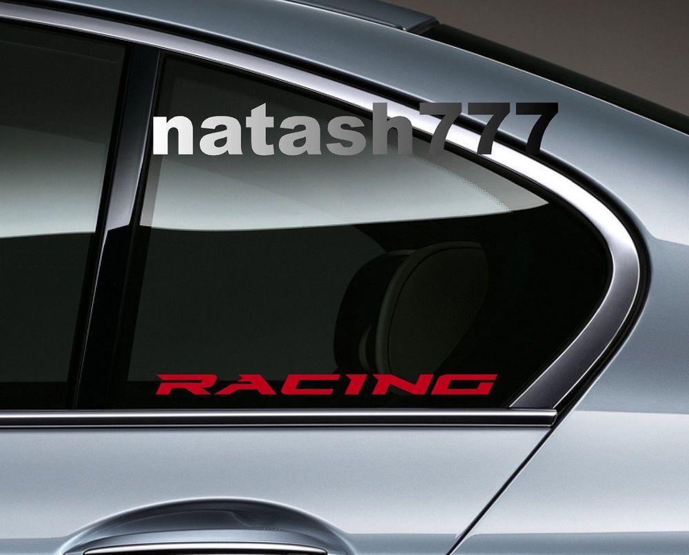 daBOSS Sport Decal racing sticker car logo emblem window motorsport performance