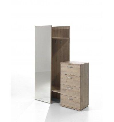 Superbe meuble d\u0027entrée contemporain coloris chêne royale ! Sa