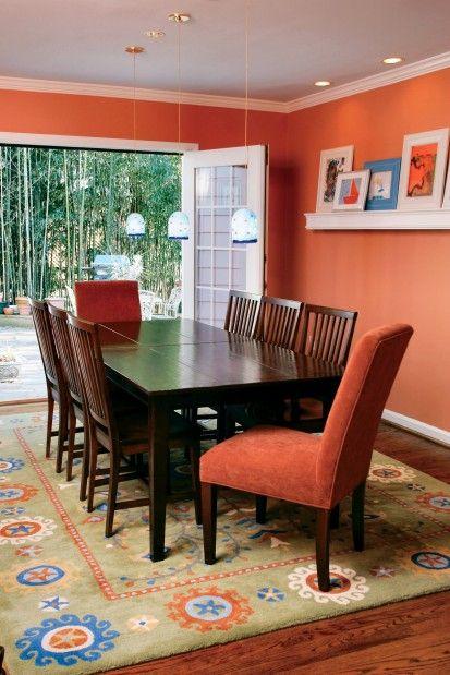 pumpkin spice 126 used in this dining room. #benjaminmoore