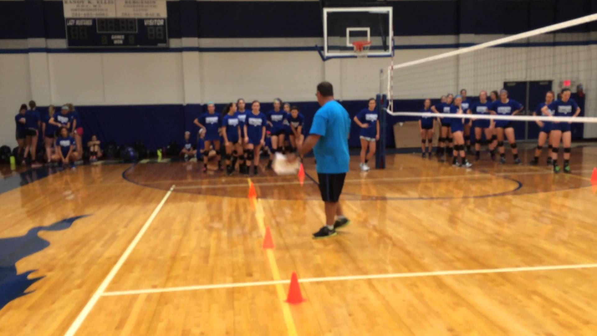 Cone movement drill - lateral jumps