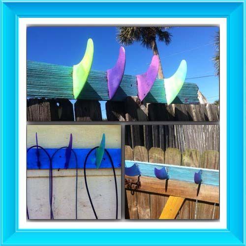 Fin Surf Racks Outdoor Shower Towel Holder Wall Racks