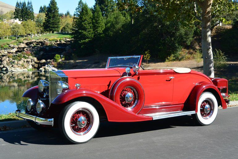 1933 Packard Eight 1001 Coupe Roadster Vintage Trucks Car Wheels Classic Cars