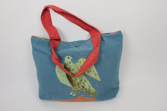 Bird of prey on gloved hand cotton bag by RosedeBorman on Etsy, £45.00