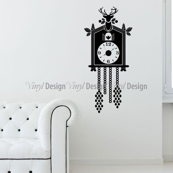 Cuckoo Clock Wall Decal - Clocks - Vinyldesign  sc 1 st  Pinterest & Cuckoo Clock Wall Decal - Clocks - Vinyldesign | cuckoo for cuckoos ...