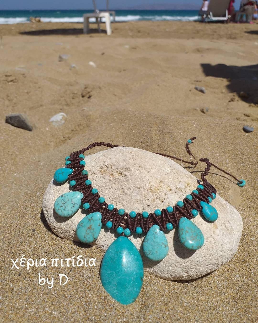 Κλασικά κολιέ για το καλοκαίρι.  Macrame necklaces.  #χέριαπιτίδια  #heriapitidia #macrame #μακραμέ #macramenecklace #μακραμεκολιε #necklaces #κολιέ #giftideas #χειροποίηταδώρα #handmadegifts #gift #ιδέεςδώρων #δώρα #crete #greece #tyrquoise #τυρκουάζ #마크라메 #마크라메팔찌목걸이 #목걸이 #καλοκαίρι #summer #summerjewelery #καλοκαιρινακοσμηματα #classicsummerjewelry #여름