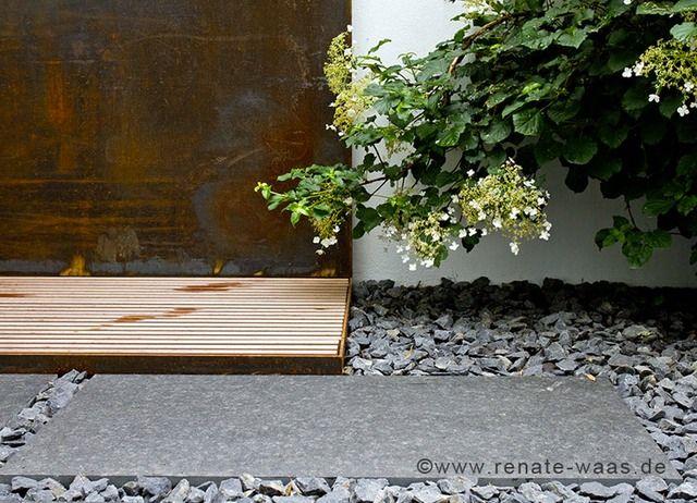 garten modern gartenplanung material garten cortenstahl granit, Garten und erstellen